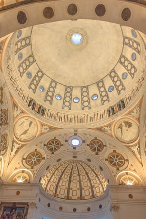 Milan, Italy - November 15, 2016: the vertical apse roof of church Santa Maria Delle Grazie.