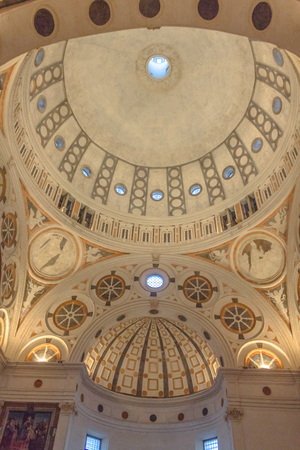 Milan, Italy - November 15, 2016:church Santa Maria Delle Grazie. the apse roof, vertical view