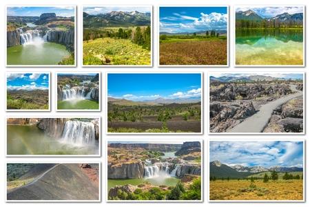 sawtooth national forest: Idaho landmarks collage