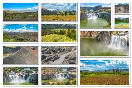 sawtooth national forest: Idaho landscape collage Stock Photo