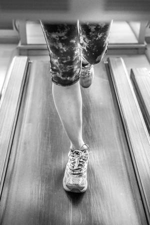 Woman feet runnig Archivio Fotografico
