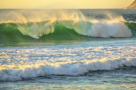 big waves: Big Waves Noordhoek Beach Stock Photo