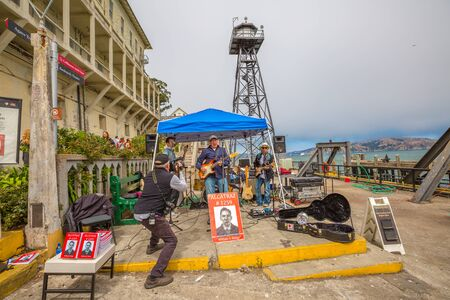 San Francisco, California, United States - August 14, 2016: show at Alcatraz sally port of William G. Baker, Alcatraz former inmate during 1950s. Writer of story book of prison: Alcatraz-1259 Editorial