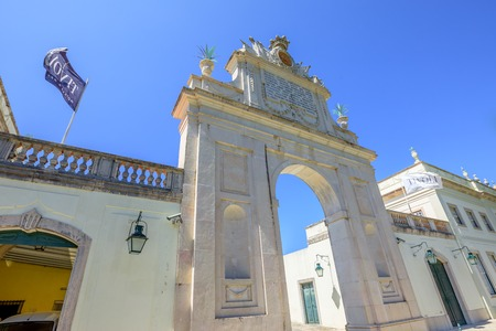 five stars: Sintra, Portugal - August 9, 2017: bottom view of Seteais Palace. The Palacio de Seteais is now five star Hotel Tivoli.
