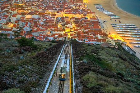 Nazare, Portugal by evening Stock Photo