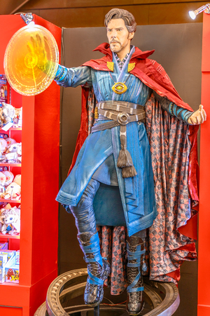 Tokyo, Japan - April 20, 2017: Doctor Strange, Tibetan magician model from Age of Heroes movie at Mori Tower, Roppongi Hills complex, Minato Tokyo.Doctor Strange is a comics character by Marvel Comics 新聞圖片