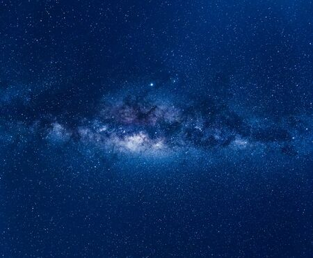 Blue night sky with milky way, stars field and galaxies, from Australia in August. Banque d'images