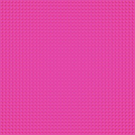 pink base template of plastic construction brick. Plastic toy blocks background in pink. Construction plate base for children's toys. Repeating texture and empty field for bricks installation 版權商用圖片 - 148166682