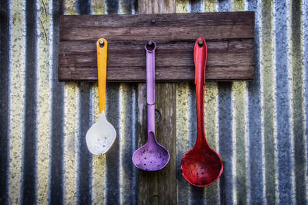 hanging kitchen spoons
