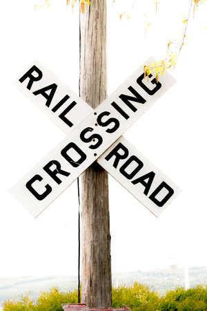 railroad crossing Imagens
