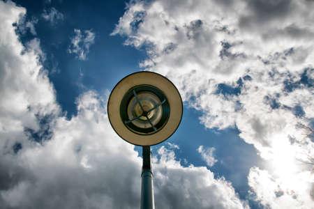 street light meets sky