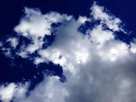 Cloudy sky on Ogunquit Beach Maine Imagens