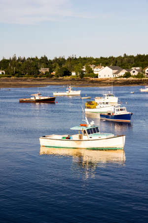Boats in Southwest Harbor Maine Imagens