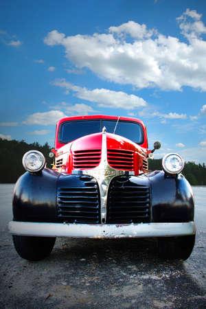 Classic car in Southwest Harbor Maine