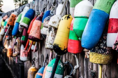 Buoys in Southwest Harbor Maine