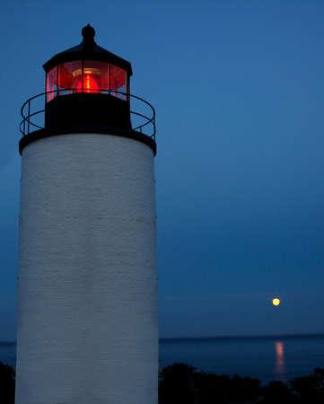 Lighthouse in Southwest Harbor Maine Stock fotó
