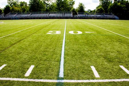 50 yard line of a football field