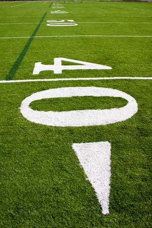 40 yard line of a football field Imagens