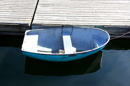 Boat at a dock in Ogunquit Maine