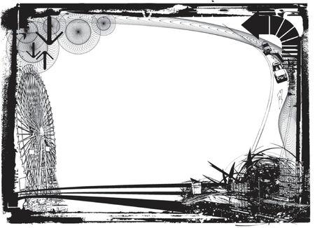 ferriswheel: elemento per la progettazione, illustrazione vettoriale. Vettoriali
