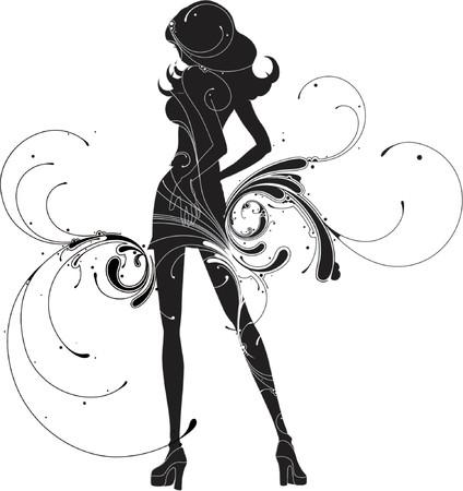 swirly design: element for design, vector illustration. Illustration