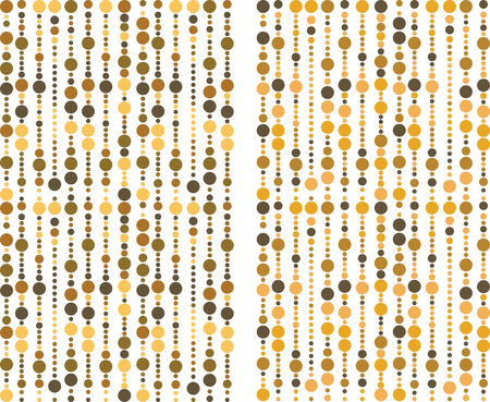 brown and yellow bubbles pattern