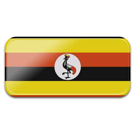 uganda: Flag of Uganda Stock Photo