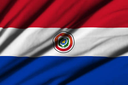 bandera de paraguay: High detailed waving flag of different countries from all over the world.