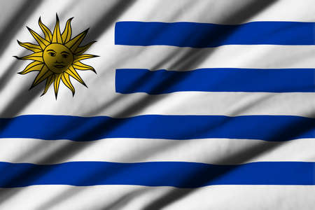 bandera de uruguay: High detailed waving flag of different countries from all over the world.