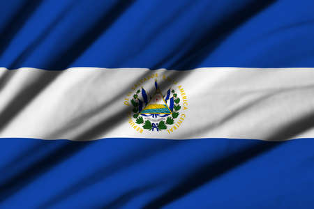 bandera de el salvador: High detailed waving flag of different countries from all over the world.