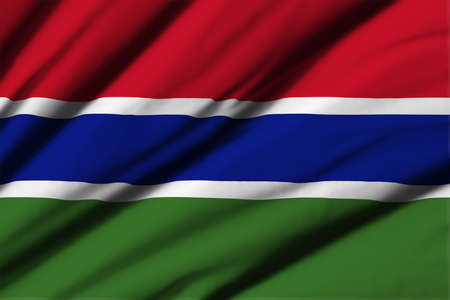 gambia: High detailed waving flag of different countries from all over the world.