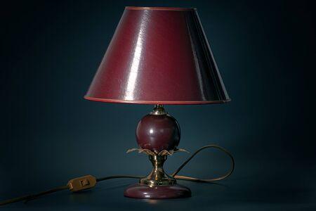 Old vintage lamp - crime novel genre