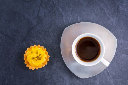 Mini lemon pies and a Cup of Black Coffee