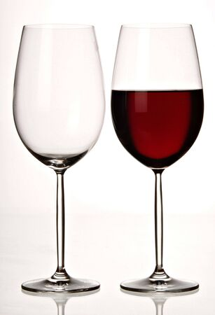 thinness:  Two beautiful stemmed wine glass Stock Photo