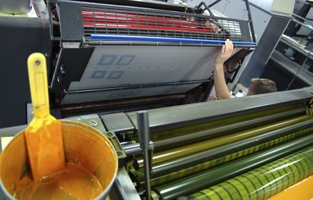 Eight colors rotary presses offset photo