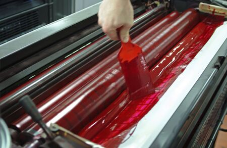 offset printing: Eight colors rotary presses offset