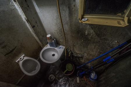 Old Vietnamese toilets
