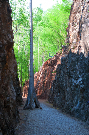 Hellfire Pass in Kanchanaburi, Thailand Stock Photo