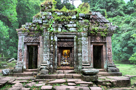 Vat Phou Temple in Champasak, in Southern Laos