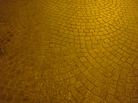 Cobbles on a square in Paris, France