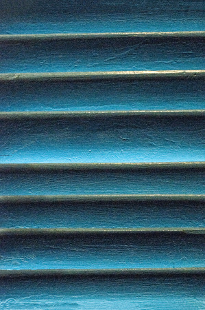 Close up of a blue wooden louver 写真素材