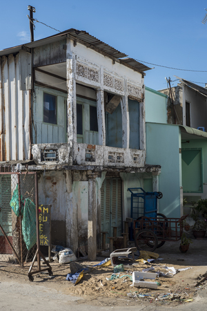 Old houses in Can Gio, Vietnam.