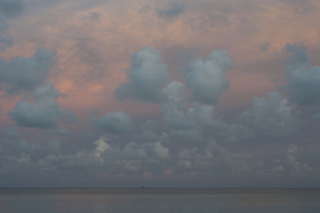 Sunset on the sea at Phu Quoc island in southern Vietnam.