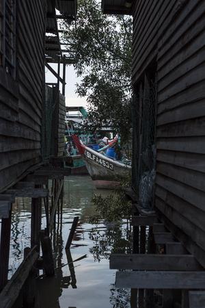 Fishing harbour in Sekichan, Malaysia.