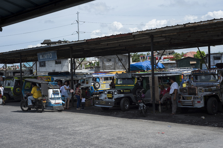 Jeepneys terminal in Legazpi in the Philippines. Editorial