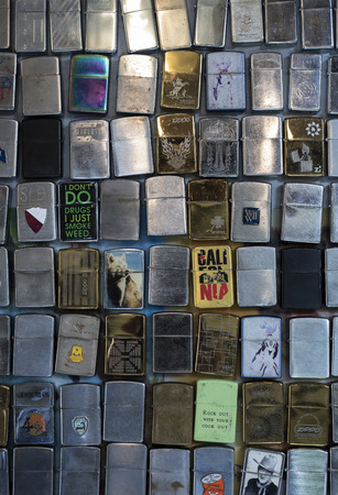 Collection of old windproof lighters