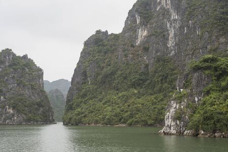 View of Halong Bay empty of people