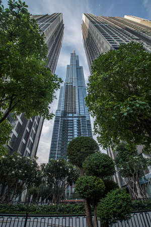 Landmark 81 skyscraper viewed from the street in Ho Chi Minh City, Vietnam 新聞圖片
