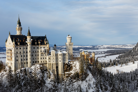 Winter in Bavaria - Neuschwanstein Castle. 新聞圖片