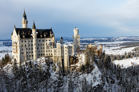 Winter in Bavaria - Neuschwanstein Castle. Redakční